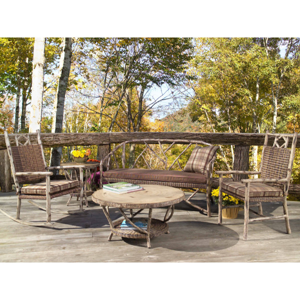 WhiteCraft by Woodard River Run 5 Piece Wicker Conversation Set