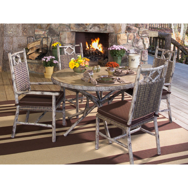 WhiteCraft by Woodard River Run 5 Piece Wicker Dining Set
