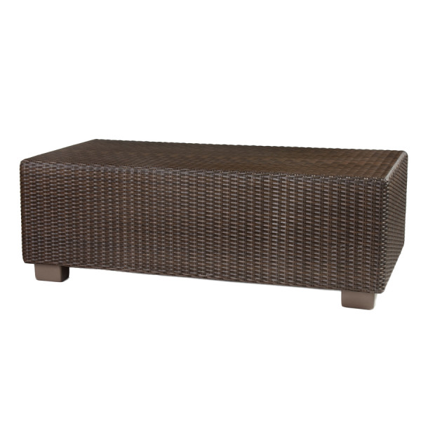 WhiteCraft by Woodard Montecito Wicker Rectangular Cocktail Table