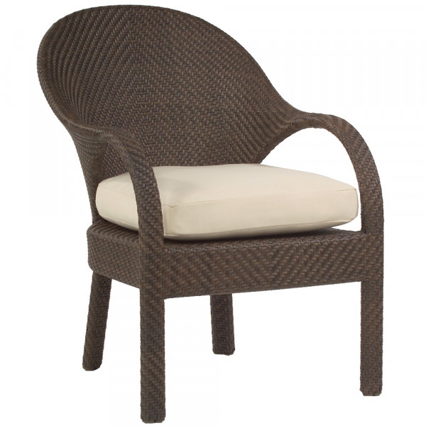 WhiteCraft by Woodard Bali Wicker Dining Chair  - Replacement Cushion