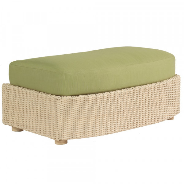 WhiteCraft by Woodard Oasis Wicker Ottoman and a Half  - Replacement Cushion