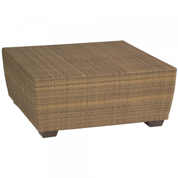 WhiteCraft by Woodard Saddleback Square Wicker Cocktail Table