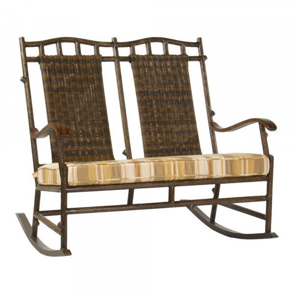 ... Woodard Chatham Run Double Wicker Rocking Chair - Replacement Cushion