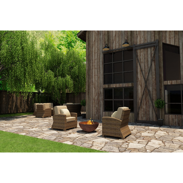 Forever Patio Cypress 2 Piece Wicker Chat Set