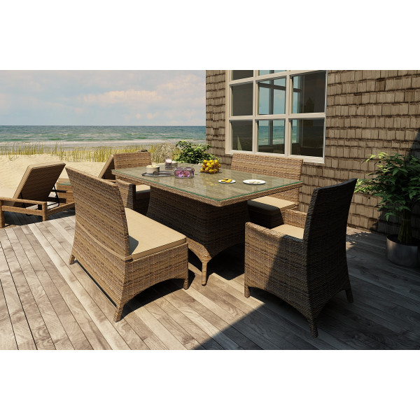 Forever Patio Cypress 5 Piece Wicker Dining Set
