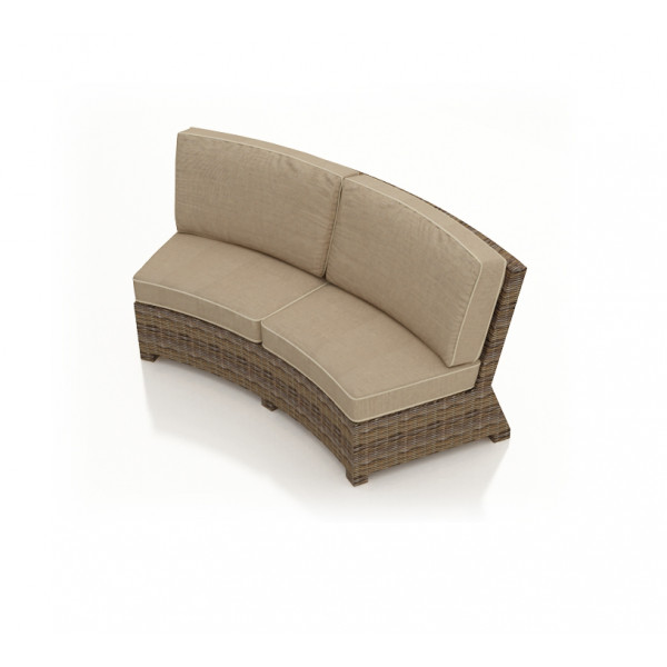 Forever Patio Cypress Wicker Curved Sofa