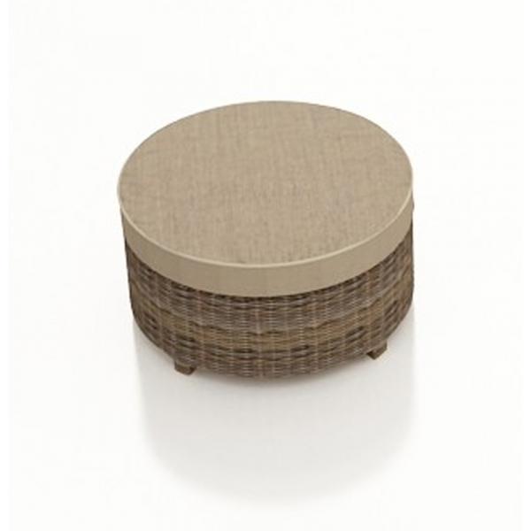 Forever Patio Cypress Wicker Round Ottoman - Replacement Cushion