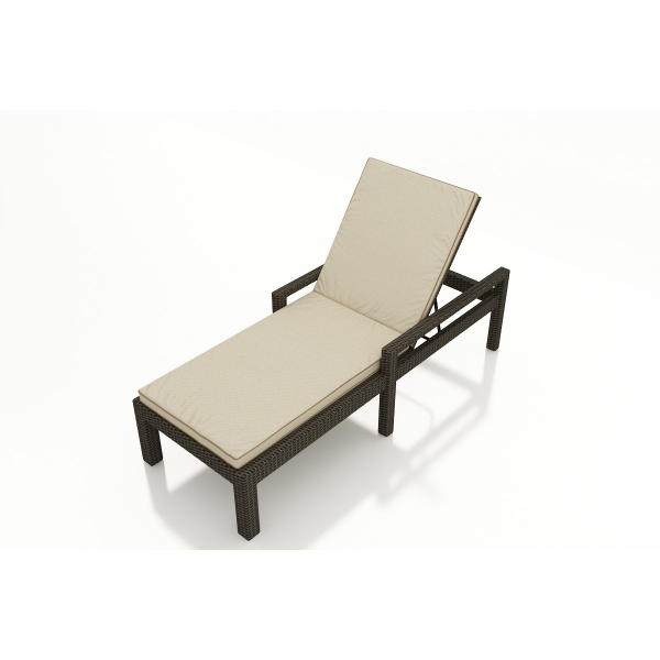 Forever Patio Hampton Adjustable Wicker Chaise Lounge with Arms - Replacement Cushion