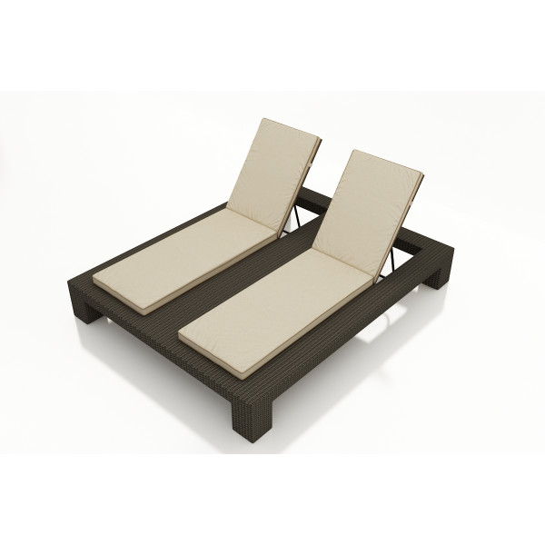 Forever Patio Hampton Adjustable Double Wicker Chaise Lounge - Replacement Cushion