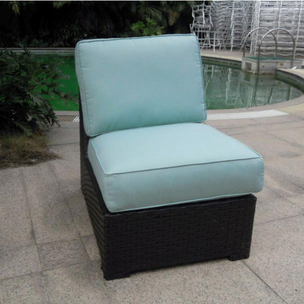 Longboat Key Santa Monica Armless Wicker Lounge Chair