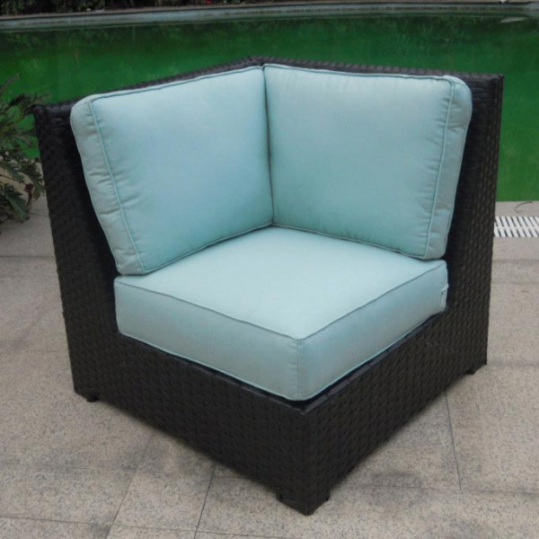 Longboat Key Santa Monica Wicker Corner Chair
