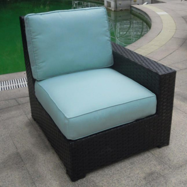 Longboat Key Santa Monica Right Arm Facing Wicker Lounge Chair