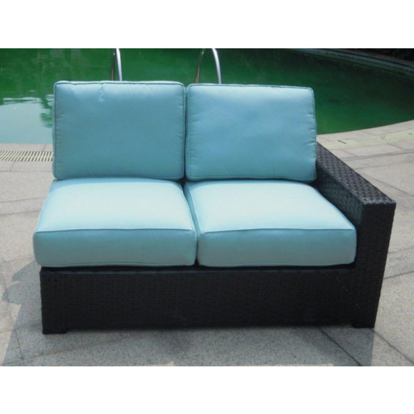 Longboat Key Santa Monica Right Arm Facing Wicker Loveseat
