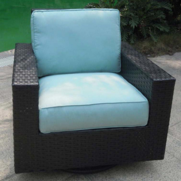 Longboat Key Santa Monica Wicker Swivel Glider