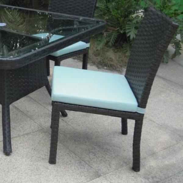Longboat Key Santa Monica Armless Wicker Dining Chair