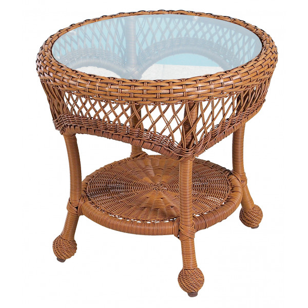 Longboat Key Casa Del Mar Wicker End Table