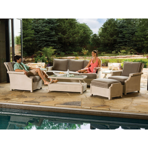 Lloyd Flanders Hamptons 7 Piece Wicker Conversation Set