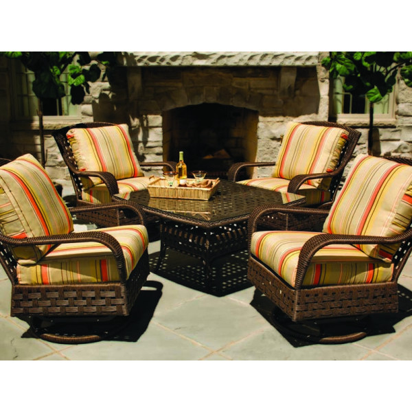 Lloyd Flanders Haven 5 Piece Wicker Conversation Set