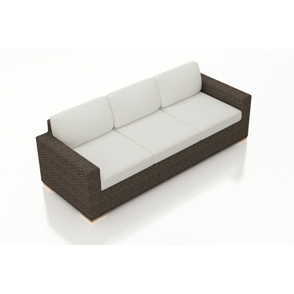 Harmonia Living Arden Chestnut Sofa - Sunbrella Canvas Natural
