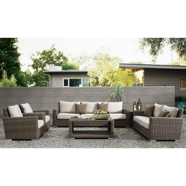 Sunset West Coronado 6 Piece Wicker Conversation Set