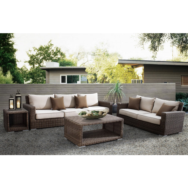Sunset West Coronado 4 Piece Wicker Conversation Set