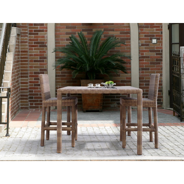 Sunset West Coronado 3 Piece Wicker Pub Set