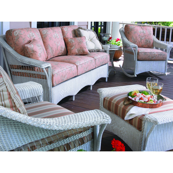 Lloyd Flanders Nantucket 4 Piece Wicker Conversation Set