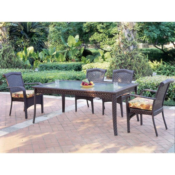 South Sea Rattan Martinique 7 Piece Wicker Dining Set
