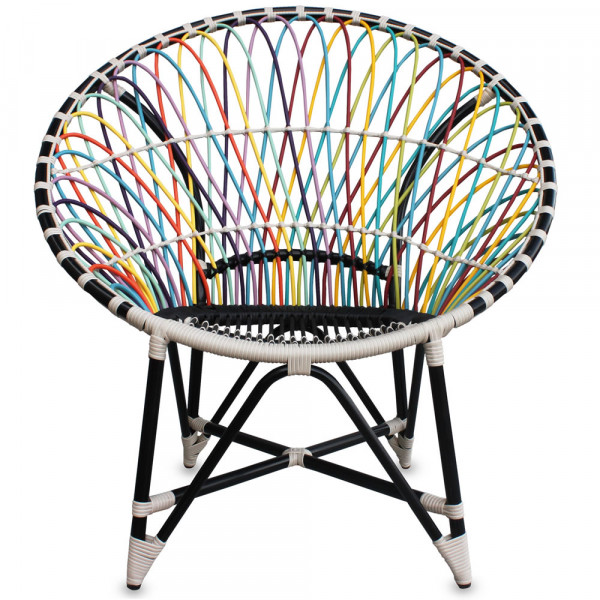 Harmonia Living Mandala Wicker Lounge Chair - Trance