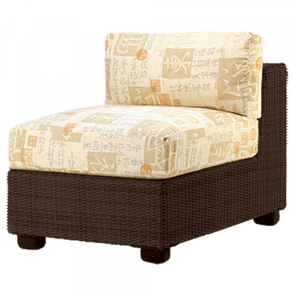 WhiteCraft by Woodard Montecito Armless Wicker Lounge Chair - Replacement Cushion