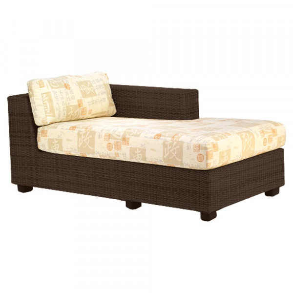 WhiteCraft by Woodard Montecito Right Arm Facing Wicker Chaise Lounge