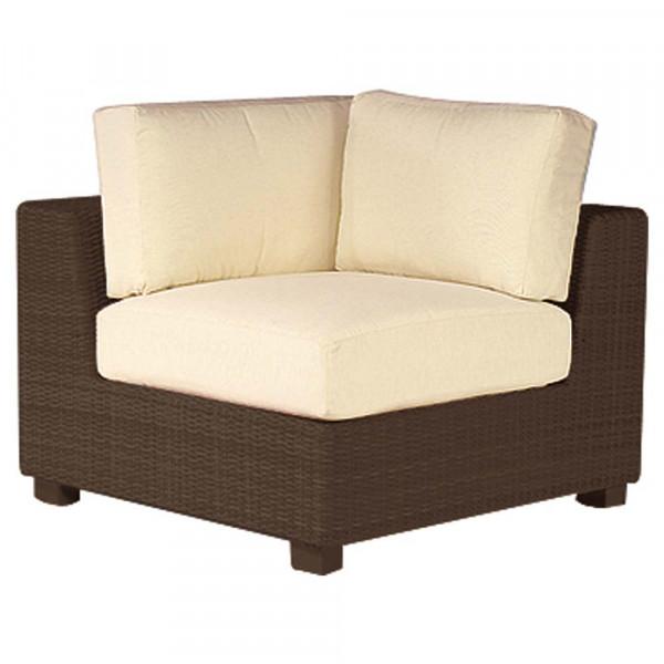 WhiteCraft by Woodard Montecito Wicker Corner Chair