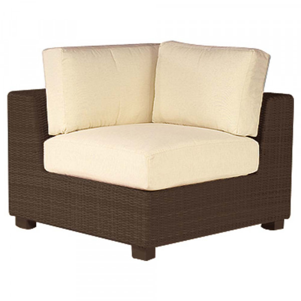 WhiteCraft by Woodard Montecito Wicker Corner Chair - Replacement Cushion