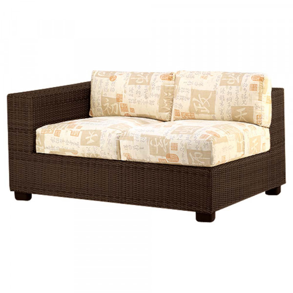 WhiteCraft by Woodard Montecito Left Arm Facing Wicker Loveseat