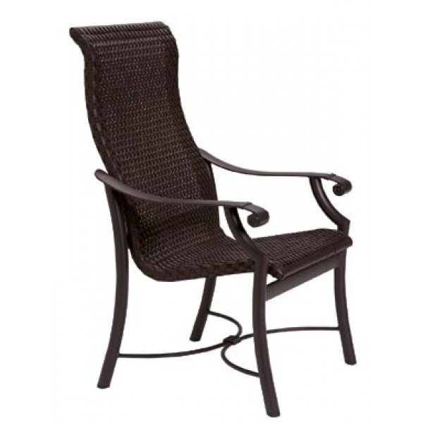 Tropitone Montreux Woven Highback Wicker Dining Chair