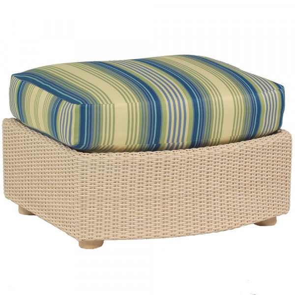 WhiteCraft by Woodard Oasis Wicker Ottoman  - Replacement Cushion