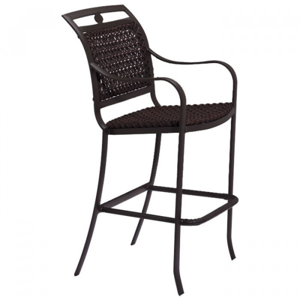 "Tropitone Palladian Lattice 28"" Wicker Bar Chair"