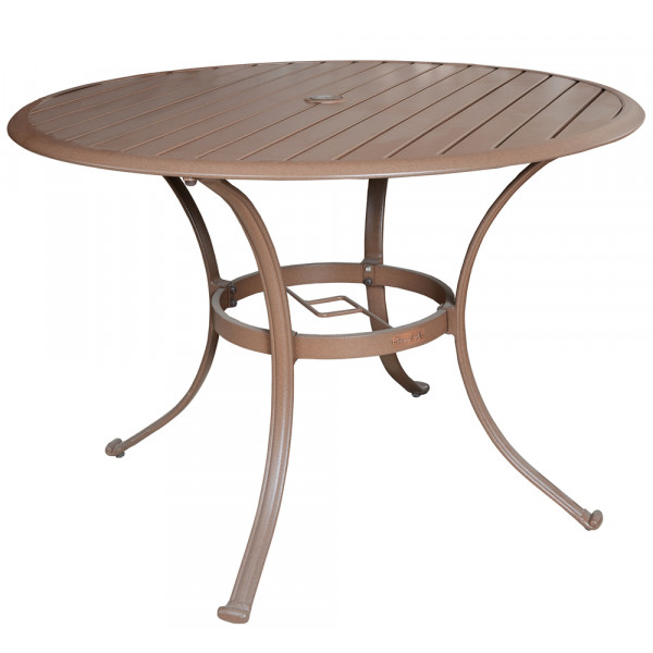 "Panama Jack Island Breeze Slatted Top Aluminum 42"" Round Dining Table"