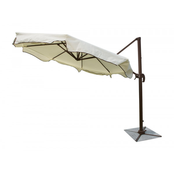 Panama Jack Island Breeze Cantilever Umbrella with Base