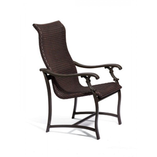 Tropitone Ravello Woven Highback Wicker Dining Chair