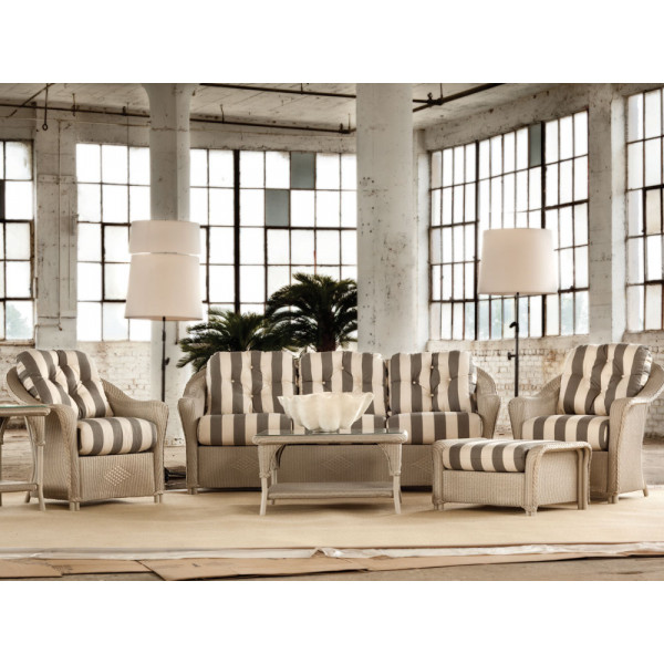 Lloyd Flanders Reflections 6 Piece Wicker Conversation Set
