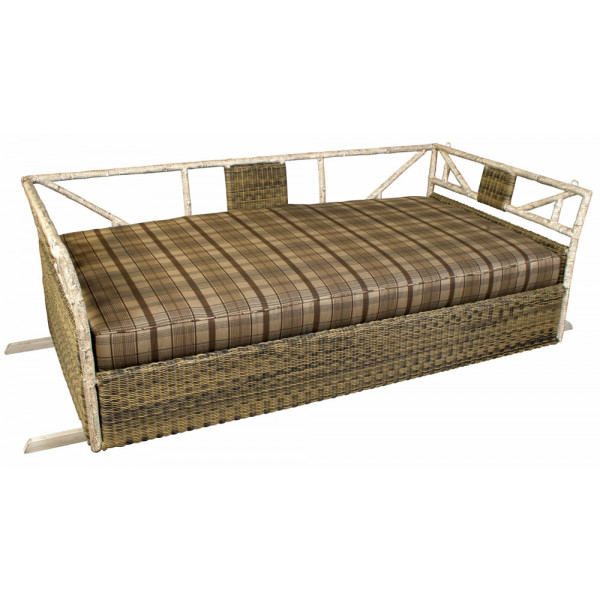 WhiteCraft by Woodard River Run Wicker Porch Swing