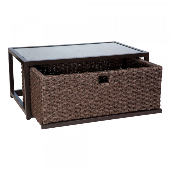 Cocktail Table with Drawer Open
