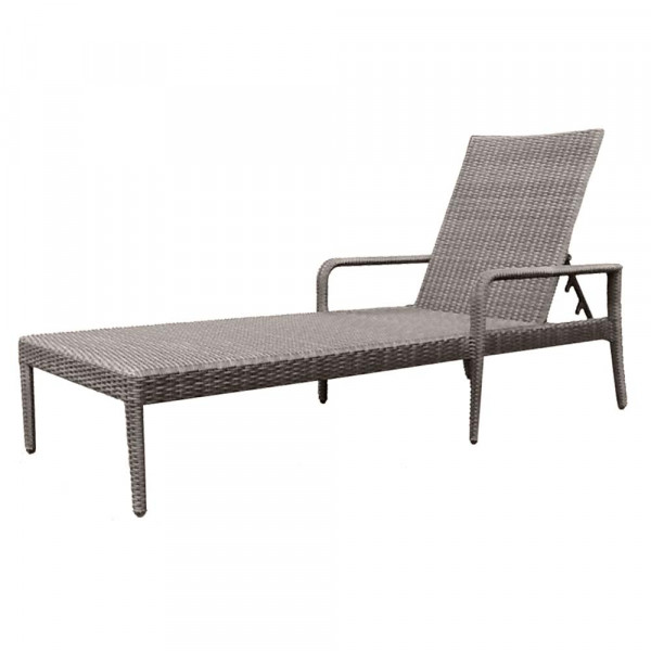 WhiteCraft by Woodard Adjustable Wicker Chaise Lounge