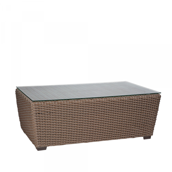 WhiteCraft by Woodard Augusta Wicker Cocktail Table