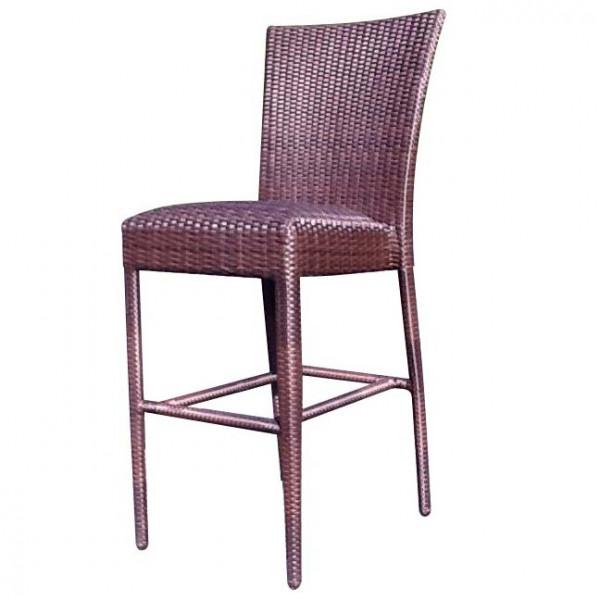 WhiteCraft by Woodard Wicker Armless Bar Chair