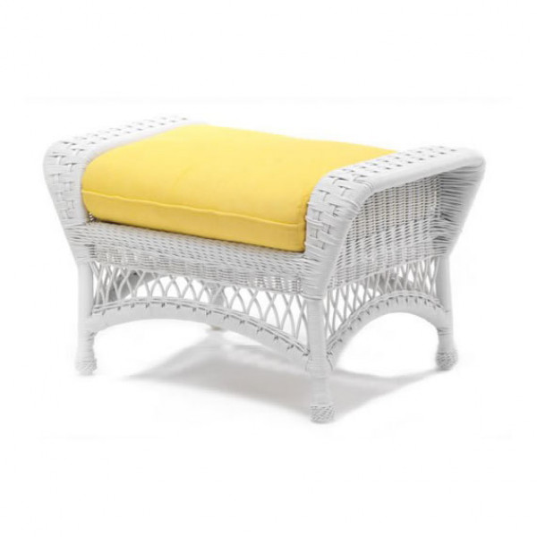 WhiteCraft by Woodard Sommerwind Wicker Ottoman  - Replacement Cushion