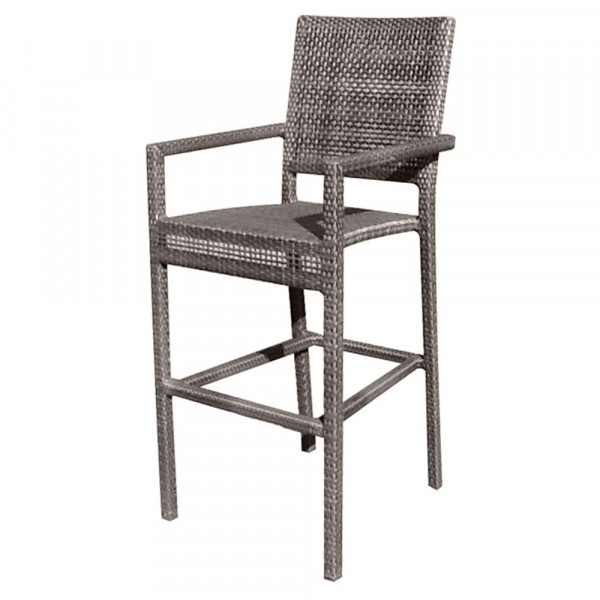 WhiteCraft by Woodard Miami Wicker Counter Chair