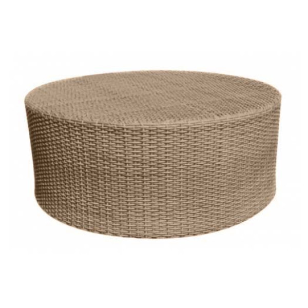 WhiteCraft by Woodard Saddleback Round Wicker Cocktail Table