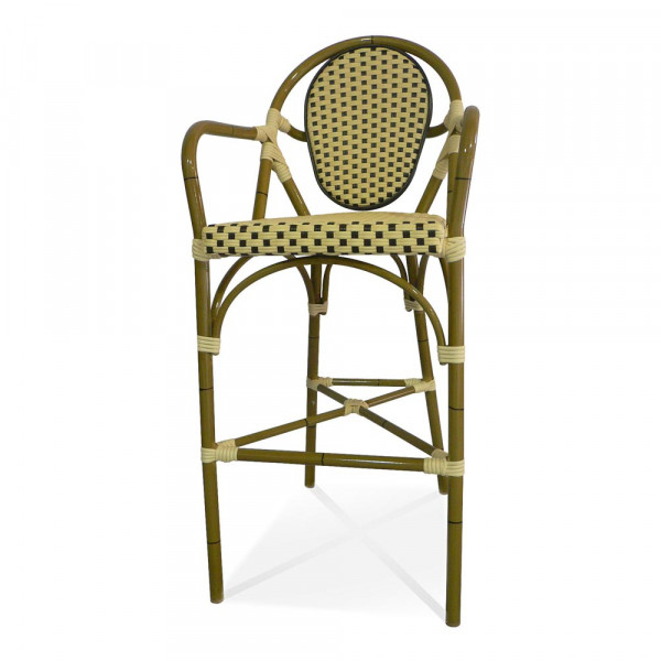 Source Outdoor Paris Armless Wicker Bar Chair